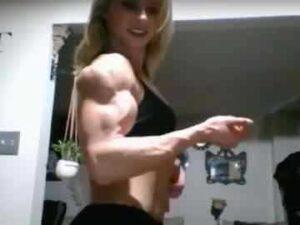 18yo Muscle Cam Girl Flexing For Fun