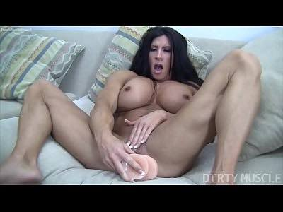 Female Bodybuilder Angela Salvagno On Cam