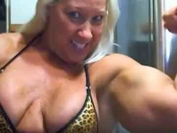 Massive Mature Woman Ruthie Showing Off Her Giant Arms