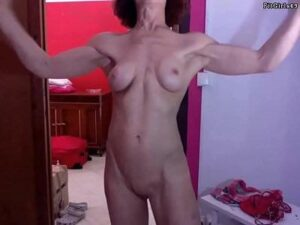 Muscular Live Granny Nude Flexing Show