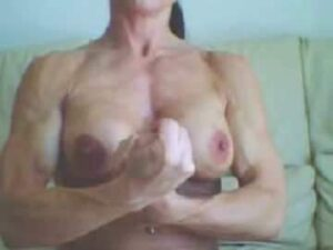 Amateur Muscular Goddess Flexing Her Powerful Arms Topless