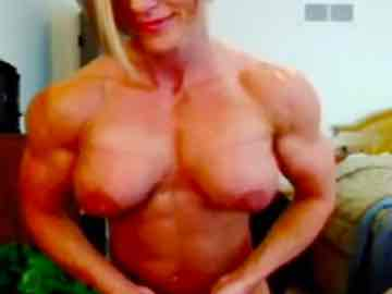 FBB Milf Strips And Flexes In Live Show