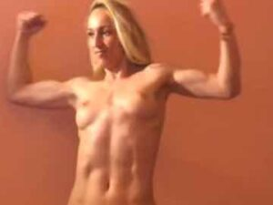 Fitness Blonde Beauty With Ripped Muscles