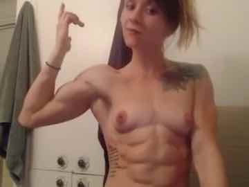 Shredded Muscle Webcam Lady Brittni Flexing