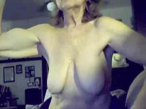 Strong Grandma With Amazing Big Biceps