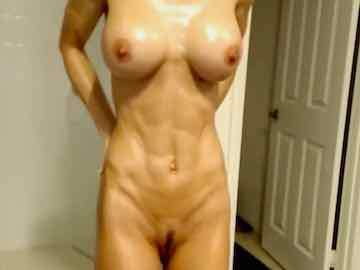 My Fit Naked Milf Oil Show In Bathroom