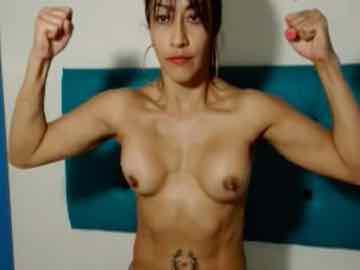 My Sexy Fit Latina Titty Flexing