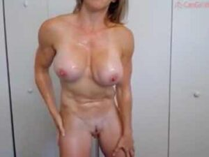 Big Breasted Cam Model Teases With Her Ripped Naked Body