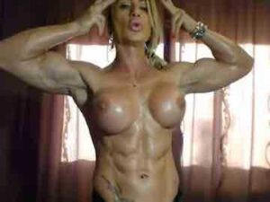 Female Bodybuilder Muscle Worship On Webcam
