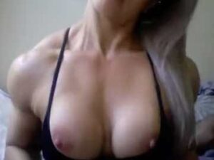 Hot Babe Briefly Flaunting Her Big Tits And Thick Biceps