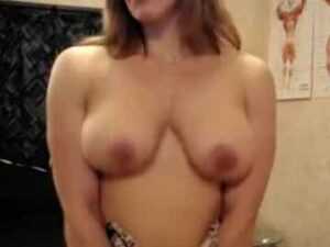 Muscle Mom Pec Bounce In Bed