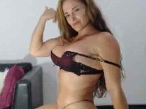 Seductive Milf Flexing Her Muscles