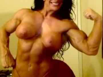 Naked Mature Lady Big Muscle Posing