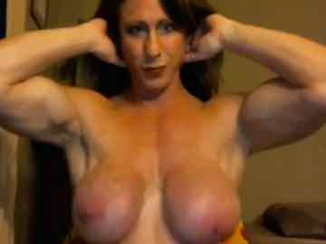Topless Female Bodybuilder MILF Pec Bounce