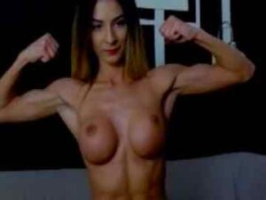 Sexy Fit Cam Girl Strips And Flaunts Her Biceps