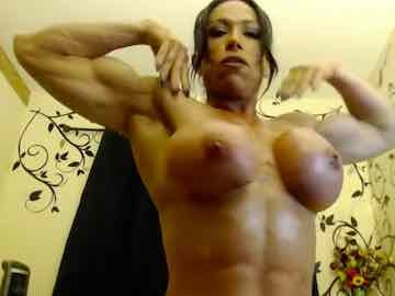 Busty FBB Ripping Shirt And Posing