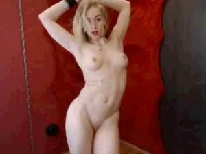 Fitness Blonde Pole Dancing