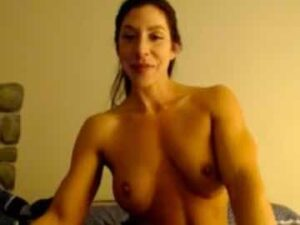 Strong Milf Topless Flex