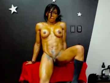 Fit Ebony Teases With Her Oiled Up Body