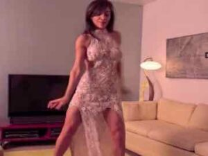 Fitness MILF Dancing In Dress