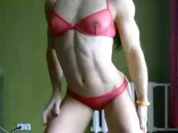 Muscle Girl Dancing In Bikini