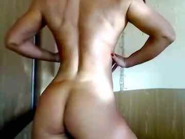 Muscle Girl Strips Naked