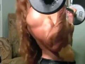 Redhead FBB Nude Workout