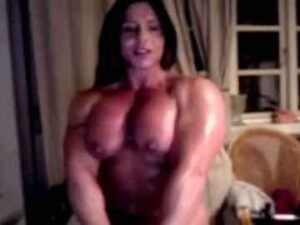 Brunette FBB Exercises And Poses