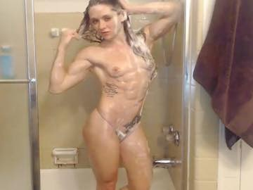 Muscle Girl Shower Webcam Show